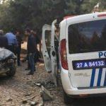 Olaya giden polisler kaza yaptı! 4 kişi yaralandı