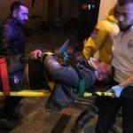 Taksim'de olaylı alem! Kendi kazdığı çukura düştü