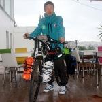 Bisikletiyle dünya turuna çıkan Japon gezgin, Bodrum'a ulaştı