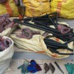 313 kilo telefon kablosunu çalarken yakalandılar