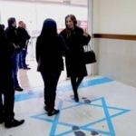İsrail bayrağını ayaklar altına aldı, kriz çıkardı