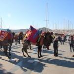Bodrum sokaklarında develer gezdirildi