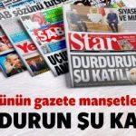 11 Ocak 2018 Perşembe gazete manşetleri