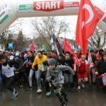 Kudüs Halk Koşusu'na yüzlerce vatandaş katıldı