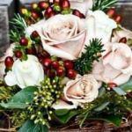 Kış gelinlerine özel çiçek buketleri