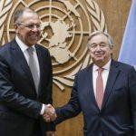 Lavrov ve BM Genel Sekreteri Guterres Suriye meselesini görüştü