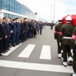 Şehit askerleri karşılama töreni düzenlendi