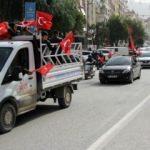 Yüzlerce otomobille operasyona destek verdiler!