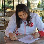 """Kadın milli boksörden """"Zeytin Dalı Harekatı""""na destek"""