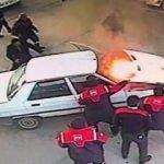 Benzin istasyonunda faciadan dönüldü!