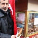 Zonguldaklı simitçi helal olsun dedirtti!