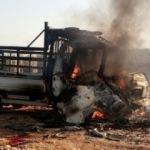 Afrin'den atılan roket kamyonete isabet etti