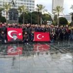 Motosiklet tutkunlarından Afrin şehitlerine saygı sürüşü