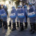 PKK yandaşlarına İtalyan polisi müdahale etti