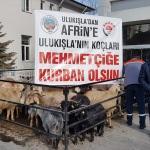 Niğde'den Mehmetçiklere destek