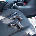 Adana'da otomobilde ruhsatsız 2 tabanca ele geçirildi