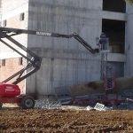 Uşak'ta inşaat iskelesi çöktü: 2 yaralı