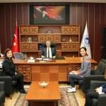Kazakistan üniversitesinden KLÜ'ye ziyaret