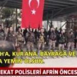 Özel harekat polisleri Afrin öncesi ant içti