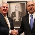 Dışişleri Bakanı Çavuşoğlu Tillerson'la görüştü