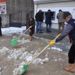 Yüksekova'da kar temizliği başlatıldı