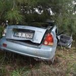 Aydın'da otomobil ağaca çarptı: 2 ölü