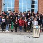 """Yabancı uyruklu öğrencilerden """"Zeytin Dalı Harekatı""""na destek"""