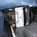 Muğla'da minibüs devrildi: 5 yaralı