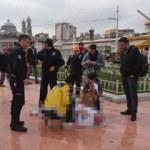 Taksim Meydanı'nda dehşet anları! Kendini yaktı
