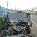 Samsun'da otomobil yolcu otobüsüne çarptı: 1 ölü