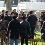 İstanbul Emniyeti önünde hareketli dakikalar