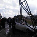 Kastamonu'da feci kaza! Araç hurdaya döndü