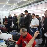 Karlıova'da Kızılay'a kan bağışı