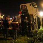 Nazilli'de tır devrildi: 1 yaralı