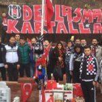 Trabzon'a gelen Beşiktaşlılar Eren'i unutmadı