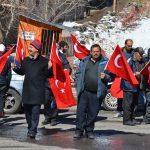 """""""Şehitler diyarı"""" Sarıkamış'tan Mehmetçik'e destek"""