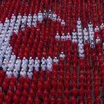 """Öğrencilerden Afrin'e """"Türk bayraklı"""" destek"""