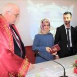 Ferizli Müftülüğünde ilk resmi nikah kıyıldı