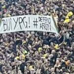 Tribünde skandal YPG pankartı!