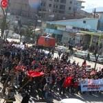 """Bitlis'te """"şehitlere saygı"""" yürüyüşü"""
