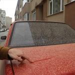 """Kastamonu'ya """"çamur"""" yağdı oto yıkamacılarda yoğunluk oluştu"""