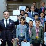 Kaymakam Alibeyoğlu, sporcuları kabul etti