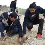 Elazığ'da Afrin şehitleri için fidan dikildi
