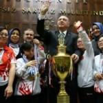 Erdoğan, down sendromlu şampiyonlarla buluştu