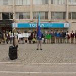 """Çubuk'ta öğrenciler """"bağımlılığa"""" karşı yürüdü"""