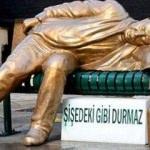 'Sarhoş adam heykeli' sokakta!