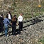 Elazığ'da yük treninin çarptığı kadın öldü