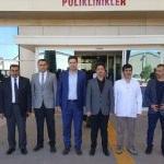 Kaymakam Gülenç'ten hastane ziyareti