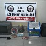 Erciş'te kumar operasyonu