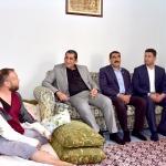 Başkan Atilla yaralanan ÖSO mensubunu ziyaret etti